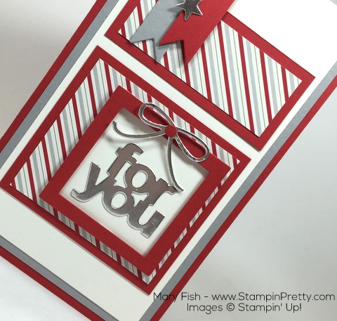 Stampin Up Mini Treat Bag Thinlits Dies Christmas Card Idea by Mary Fish