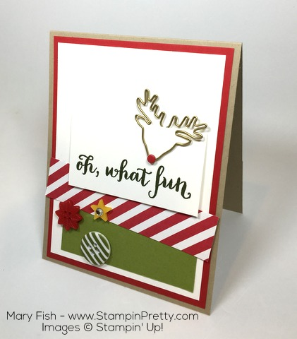 Stampin Up Oh What Fun Reindeer Paper Clip By Mary Fish