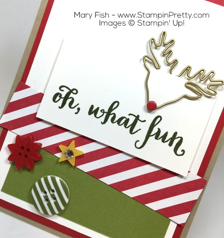 Stampin Up Oh What Fun Reindeer Paper Clips By Mary Fish Home for Christmas Buttons
