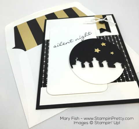 Stampin Up Sleigh Ride Edgelits Dies Jingle All the Way By Mary Fish Winter Wonderland Envelope Liner