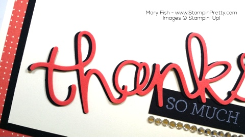 StampinUp Thank You Card Hello You Thinlits Dies By Mary Fish