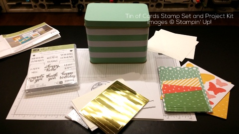 StampinUp Tin of Cards Project Kit Assembly