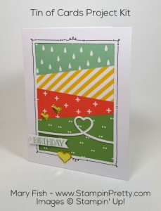 StampinUp Tin of Cards Project Kit Birthday by Mary Fish