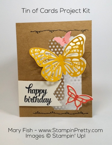 StampinUp Tin of Cards Project Kit by Mary Fish Birthday Butterfly