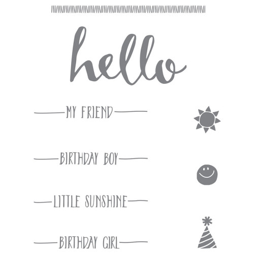 Stampin Up Hello Stamp Set Sale-A-Bration
