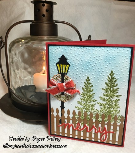 Ideas Festive Fireplace Mary Fish Stampin Pretty StampinUp