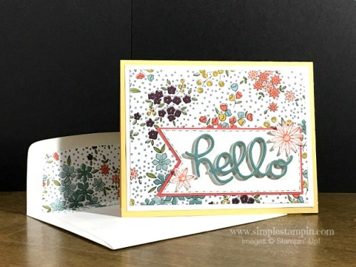 Pals Paper Crafting Card Ideas Hello You Thinlits Mary Fish Stampin Pretty StampinUp