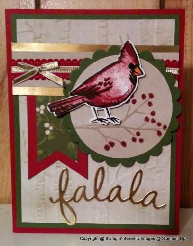 Pals Paper Crafting Card Ideas Joyful Season Mary Fish Stampin Pretty StampinUp