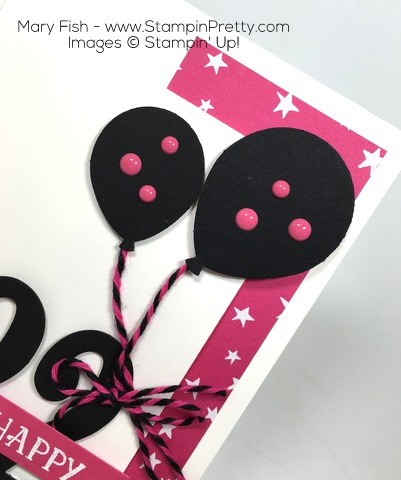 Stampin Up Balloon Builder Punch Birthday Card Idea By Mary Fish
