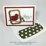 Framed Bird Builder Punch Note Card