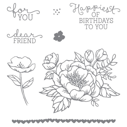 Stampin Up Birthday Blooms Stamp Set