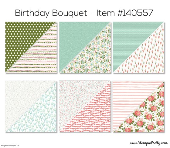 Stampin Up Birthday Bouquet Designer Series Paper