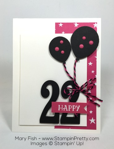 Stampin Up Birthday Party Balloon Bouquet Punch Large Numbers