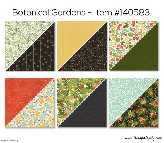 Stampin Up Botanical Designer Series Paper