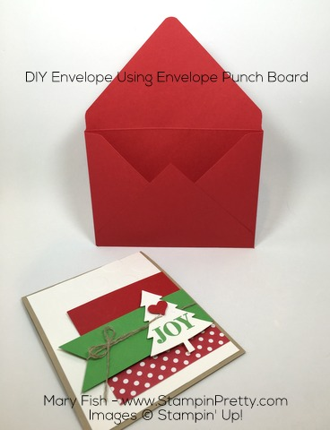 Stampin Up Christmas Holiday Card Envelope Punch Board By Mary Fish