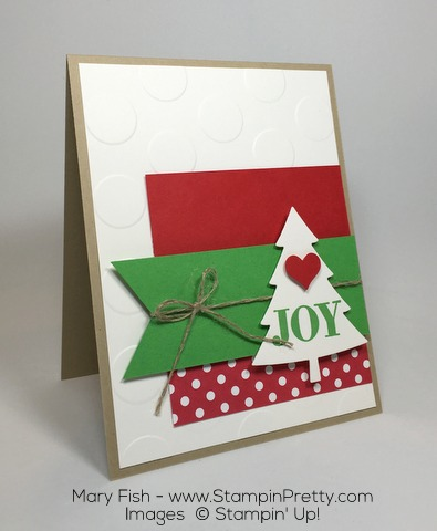 Stampin Up Christmas Holiday Card Perfect Pines By Mary Fish