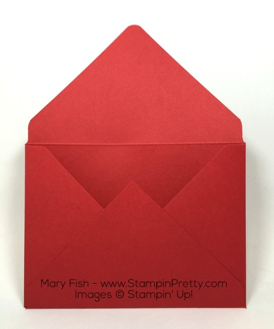 Stampin Up Christmas Holiday Card Perfect Pines Envelope Punch Board By Mary Fish