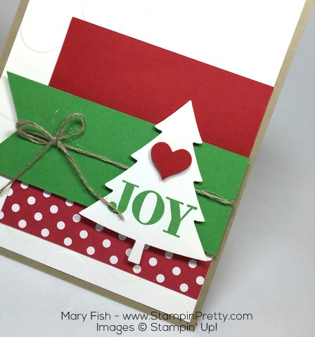 Stampin Up Christmas Holiday Card Perfect Pines Joy By Mary Fish