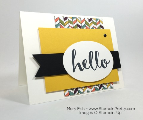Stampin Up Hello Card Idea Interior By Mary Fish