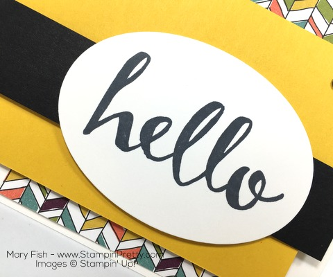 Stampin Up Hello Card Idea Sentiment By Mary Fish
