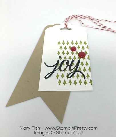 Stampin Up Holiday Gift Tag Your Presents by Mary Fish
