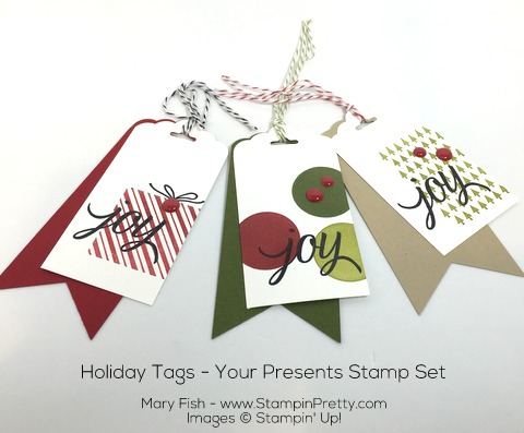 Stampin Up Holiday Gift Tags Your Presents by Mary Fish Pinterest