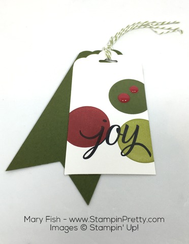 Stampin Up Holiday Gift Tags Your Presents by Mary Fish