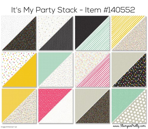Stampin Up Its My Party Designer Series Paper