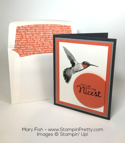 Stampin Up Mary Fish Picture Perfect Thank You Card