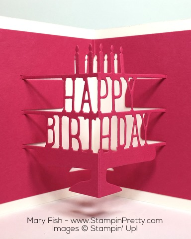 Stampin Up Party with Cake Party Pop-Up Thinlits Dies Birthday Card By Mary Fish Pinterest Close