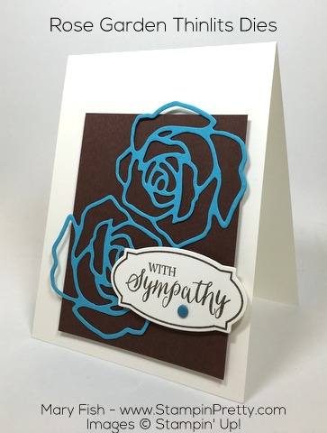 Stampin Up Rose Wonder Rose Garden Thinlits Die By Mary Fish Pinterest
