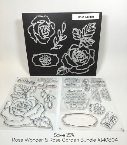 Stampin Up Rose Wonder Rose Garden Thinlits Dies Bundle Thank You Card By Mary Fish