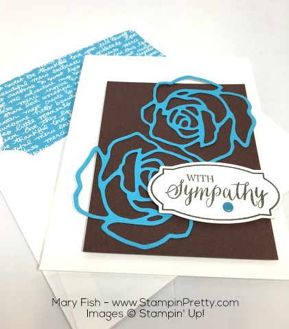 Stampin Up Rose Wonder Rose Garden Thinlits Dies By Mary Fish Envelope Liner