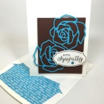 Simple Rose Garden Sympathy Card