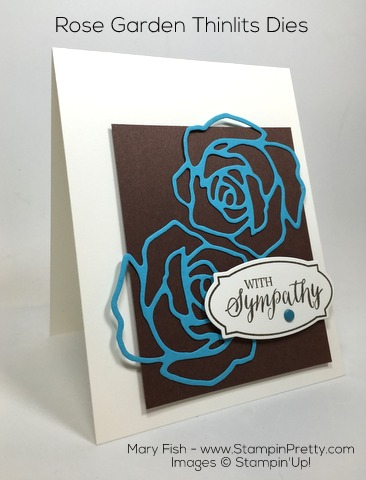 Stampin Up Rose Garden Thinlits Dies Rose Wonder