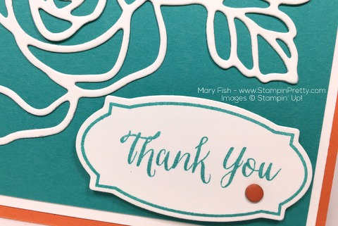 Stampin Up Rose Wonder Rose Garden Thinlits Dies Thank You Card Idea By Mary Fish