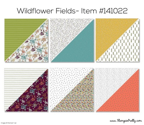 Stampin Up Wildflower Fields Designer Series Paper