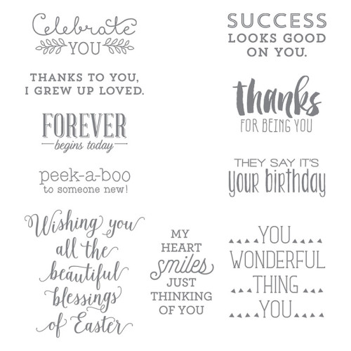 Stampin Up Suite Sayings