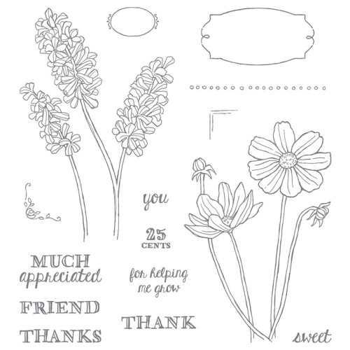 Stampin Up Helping Me Grow Stamp Set