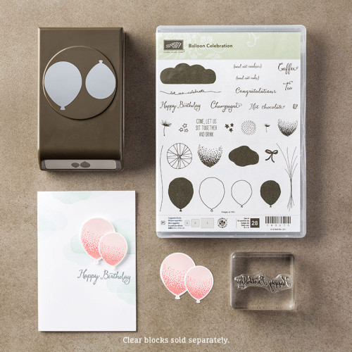 Stampin Up Balloon Bouquet Punch Balloon Celebration Bundle