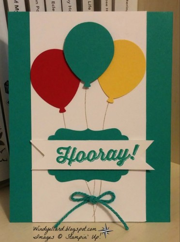 Pals Paper Crafting Card Ideas Balloon Celebration Mary Fish Stampin Pretty StampinUp