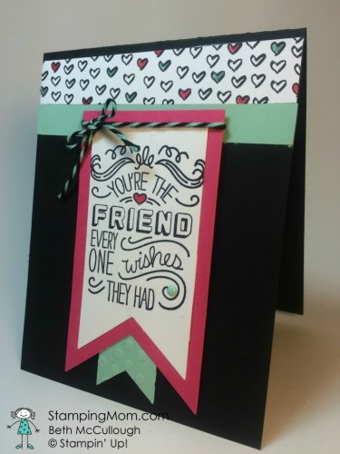 Pals Paper Crafting Card Ideas Friendly Wishes Mary Fish Stampin Pretty StampinUp