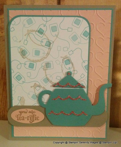 Pals Paper Crafting Card Ideas Nice Cuppa Mary Fish Stampin Pretty StampinUp