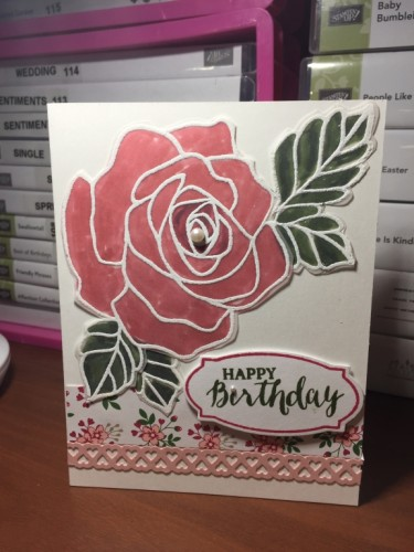 Pals Paper Crafting Card Ideas Rose Birthday Mary Fish Stampin Pretty StampinUp