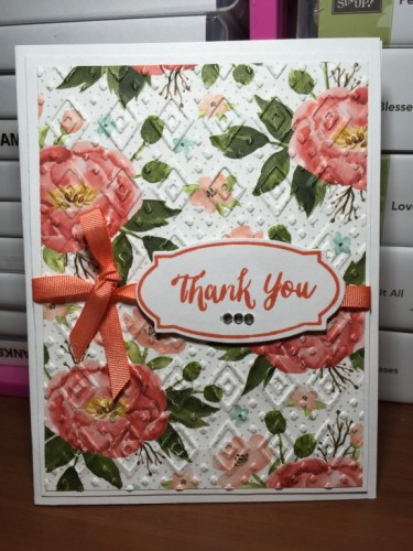Pals Paper Crafting Card Ideas Thank You Mary Fish Stampin Pretty StampinUp