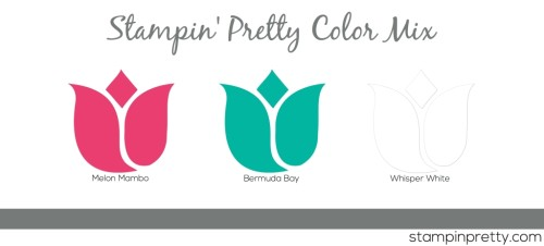 Stampin' Pretty Color Mix Mamao Bermuda White