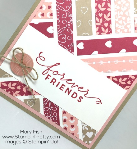 Stampin Up First Sight Love Blossoms Designer Series Paper Valentine Card By Mary Fish