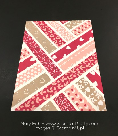Stampin Up First Sight Love Blossoms Designer Series Paper Valentine Card Idea By Mary Fish Cropped