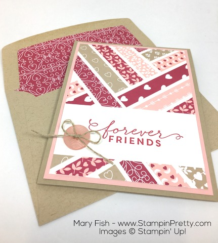 Stampin Up First Sight Love Blossoms Designer Series Paper Valentine Card Idea By Mary Fish Final
