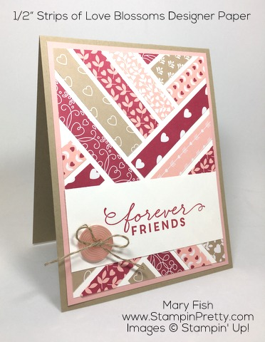Stampin Up First Sight Love Blossoms Designer Series Paper Valentine Card Idea By Mary Fish Pinterest